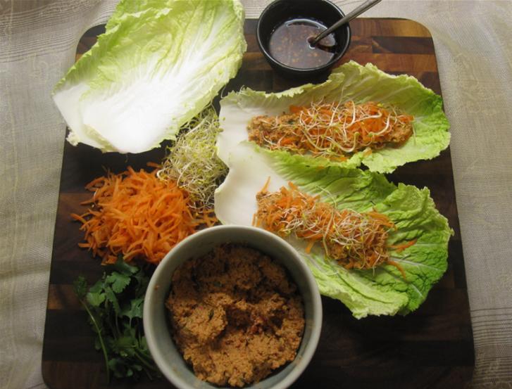Vegetarian Lettuce Wraps |